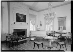 FIRST FLOOR, NORTHWEST ROOM - Hampton, Mansion -- note the Findlay Brothers Furniture