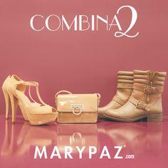 COMBINA2: 1 bolso xa 2 zapatos   Encuentra tu zapato y bolso perfectos para cada ocasión.   Encuentralos en ► www.marypaz.com
