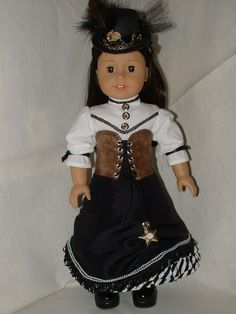 Steampunk Set for American Girl dolls OOAK Private sale for Greta. $101.85, via Etsy.