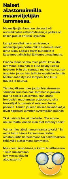 Vitsit: Naiset alastonuinnilla maanviljelijän lammessa - Kohokohta.com Sarcastic Humor, Wtf Funny, Haha, Jokes, Wisdom, Cool Stuff, Random Stuff, Kissa, Comics