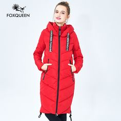 Foxqueen 2016 New Winter Women's Casual Hooded Down Cotton Women Jacket Medium-Long  Slim Thickening New Fashion Brand