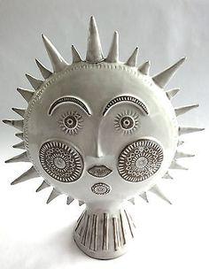 Original JONATHAN ADLER Utopia sun sculpture mantle piece Ceramic Clay, Ceramic Pottery, Sculpture Clay, Art Sculptures, Shoot The Moon, Mantle Piece, Sun Moon Stars, Sun Art, Ceramics Projects