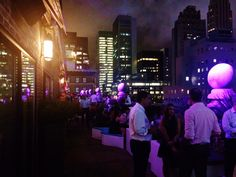 A colorful night at mad46! #Rooftop