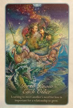 """44 Get to Know Each Other"" Oracle Cards Whispers of Love par Josephine Wall and Angela Hartfield"