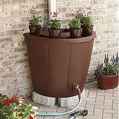 Rain Barrel with Planter Pots from Seventh Avenue ®