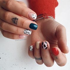 Simple Acrylic Nails, Fall Acrylic Nails, Simple Nails, Halloween Acrylic Nails, Edgy Nails, Classy Nails, Stylish Nails, Ten Nails, Nagellack Trends
