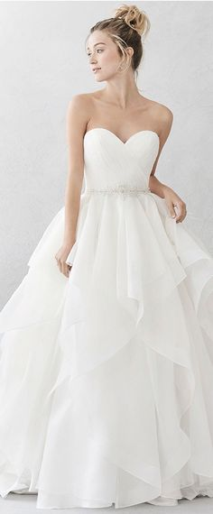 Stunning Organza & Satin Sweetheart Neckline A-Line Wedding Dresses With Beadings