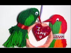 Valentine Crafts - Woollen Parrots - DIY
