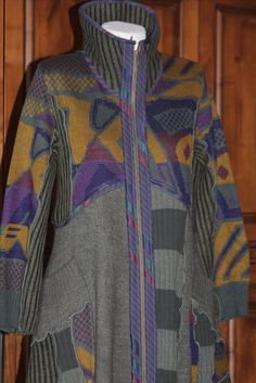 Refashioned Sweaters-Gorgeous take on Vogue 1494 jacket pattern by Sandra Betzina.