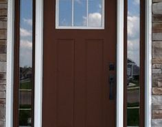 Front door color SW 2838 Polished Mahogany - Houzz fence stain and front door maybe garage