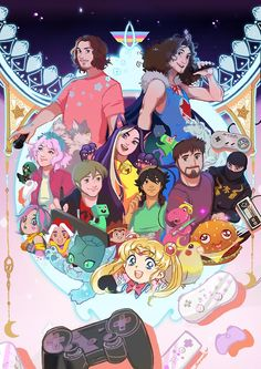 The magnificent Game Grumps including Arin, Dan, Holly, Suzy, Barry, Ross, Kevin, and Brian