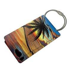 Ambient Beach Sunset Suitcase Bag ID Luggage Tag Set >>> Details can be found by clicking on the image.Note:It is affiliate link to Amazon.