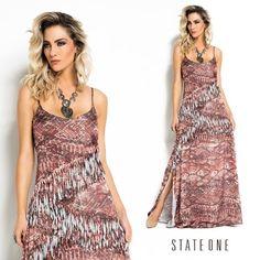 Dress com uma estampa linda! #stateone #inlove #dress
