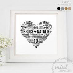Printable Hearts 10th Anniversary Gifts Years Holiday Destinations Paper Marriage Hobbies Romantic Messages