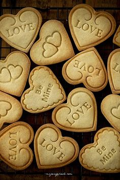 love is sweet Valentines Day Cookies, Be My Valentine, Shortbread Cookies, Cupcake Cookies, Heart Crafts, Cut Out Cookies, Love Is Sweet, Cookie Decorating, Holiday Recipes