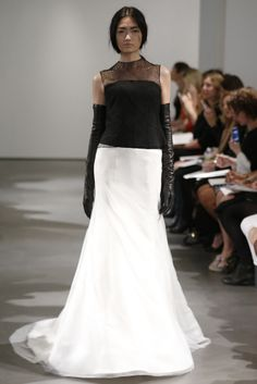 Blanco + Negro, vestido de novia de Vera Wang (SS 2014) #weddingdresses #NYBW