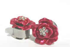 Hey, I found this really awesome Etsy listing at https://www.etsy.com/listing/124125285/ruby-red-rose-crystal-plugs-716-12-916
