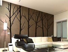 Winter tree wall art decals 12 Wall Art Decals That Celebrate Modern Style