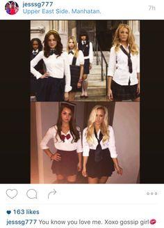 Gossip girl Blair and Serena Halloween costume!