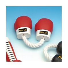 Boxing-Pulls Vinyl Boxing Gloves with Rope Dog Toy - RFV61