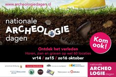 Horen, zien en graven! Op 14,15 en 16 oktober krijgt het publiek de kans om mee te kijken met wat er allemaal in de Nederlandse bodem verstopt zit en zat.