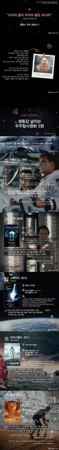 스크린으로 '우주' 유영하기…우주탐사영화 BEST 5 [카드뉴스] #Movie / #Cardnews ⓒ 비주얼다이브 무단 복사·전재·재배포 금지