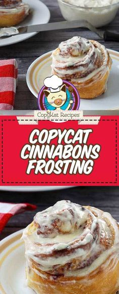 Copycat Cinnabon Frosting Recipe and Video Cinnabon has best cinnamon rolls and the frosting is divine! Learn how to make Cinnabon's cream cheese frosting for cinnamon rolls with this easy copycat recipe and video. Cinnabon Frosting Recipe, Cinnamon Roll Frosting, Frosting Recipes, Dessert Recipes, Desserts, Marshmallow Frosting, Caramel Frosting, Cupcake Frosting, Buttercream Frosting