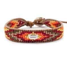 Chan Luu - Red Mix Single Wrap Bracelet on Natural Brown Leather, $140.00 (http://www.chanluu.com/bracelets/red-mix-single-wrap-bracelet-on-natural-brown-leather/)