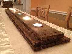 Pallet Wood Candleholder by DilettantesDesigns on Etsy. , via Etsy.