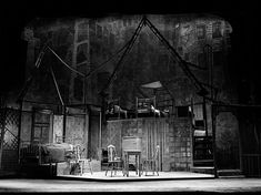 Death of a Salesman. 1949. Set of the original Broadway production, designed by Jo Mielziner. Eileen Darby Images. NYTimes/Theater/March 8, 2012