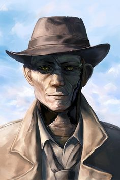 Nick Valentine,Fallout 4,Fallout,фаллаут приколы,фэндомы