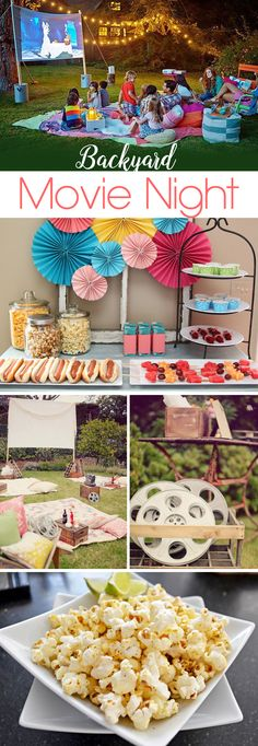 Ideas, snacks, and drinks for a Backyard Movie Night