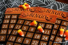 Free, Printable Halloween Themed Worksheets for Kids: Halloween Bingo Cards