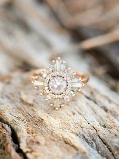 Engagement Ring Vintage inspired engagement ring by Heidi Gibson // Tide Water and Tulle - Retro picnic engagement session with adorable cherry pie in Virginia Beach by Molly Lichten Photography. Vintage Inspired Engagement Rings, Engagement Ring Settings, Diamond Wedding Rings, Bridal Rings, Vintage Engagement Rings, Diamond Engagement Rings, Diamond Rings, Solitaire Diamond, Solitaire Engagement