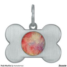 Pink Marble Pet Tag #Pink #Marble #Tag #Pet #Dog