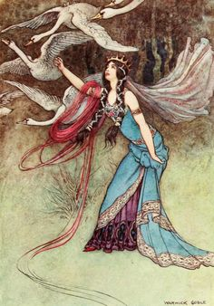 Illustration by Warwick Goble from 'The Fairy Book' published 1913 by Macmillan…
