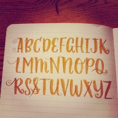 Do you know your ABCs?  Lettering fun with a new set of brush pens. by madeline.inkc, via Flickr