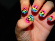 Rainbow nails...