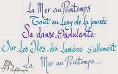 Haïkus de la Mer, pour les assiettes aux haïkus #calligraphie #haiku #mer de la mer. http://www.frabieux.com/2014/07/des-assiettes-haiku-de-la-mer.html