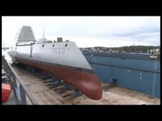 Future USS Zumwalt (DDG is shown here transitioning from drydock to pierside as water meets the hull for the first time. Royal Navy, Us Navy, Uss Zumwalt, Fleet Week, Nuclear Submarine, Merchant Marine, Naval History, Navy Ships, Aircraft Carrier