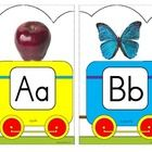 ***I add FREE items often.  Follow me to get them as soon as they are listed.  This is an alphabet train to use for wall décor and bulletin boards,...