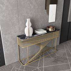 Console Table Styling, Marble Console Table, Modern Console Tables, Space Up, Steel Furniture, Home Room Design, Diy Wood Projects, Contemporary Furniture, Home Improvement