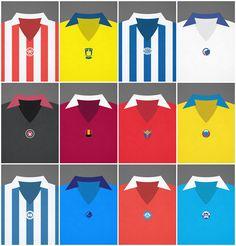 Minimalistic retro football shirts, danish Superliga