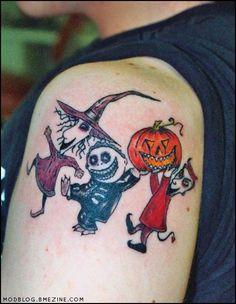 """By far the most popular movie tattoo theme, by a significant margin I'd say, is The Nightmare Before Christmas (search BME for terms like """"nightmare christmas"""" or """"skellington"""" to see lots more). G..."""