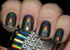 Layla: Flash Black - Holy crap. This is an awesome hologram effect polish! I'll have t see if I can get ahold of some...