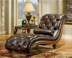 Heritage Blended Leather Chaise Lounge modern-day-beds-and-chaises