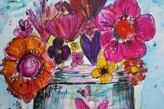 Jodi Ohl - Funky Florals - Art Is...You - The East and West Coast Art Retreats