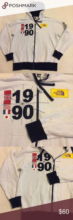 Vintage 1990 North Face Hoodie Jacket Spot on sleeve. No holes Size medium North Face Jackets & Coats