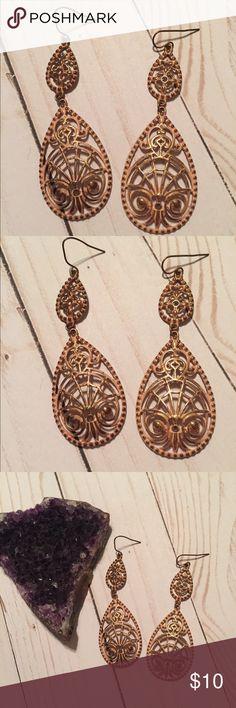 Intricate Gold Dangle Earrings Intricate Gold Dangle Earrings Jewelry Earrings