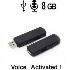 Sprachaktivierter Spionagerecorder als Abhörgerät getarnt im USB-Stick Spy Recorder, Voice Recorder, Usb Stick, Audio, 8 Gb, Usb Flash Drive, Run Time, Usb Drive